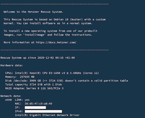 SSH into server