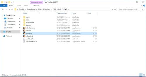 SAP HANA Client Install - 1
