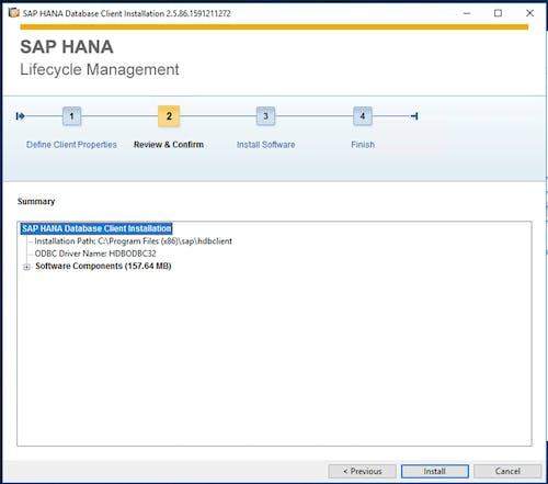 SAP HANA Client Install - 3