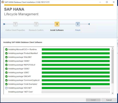 SAP HANA Client Install - 4