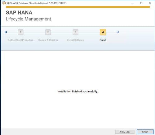 SAP HANA Client Install - 5