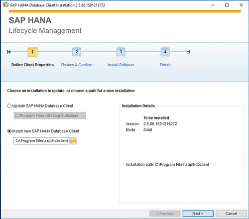 SAP HANA Client Install - 6