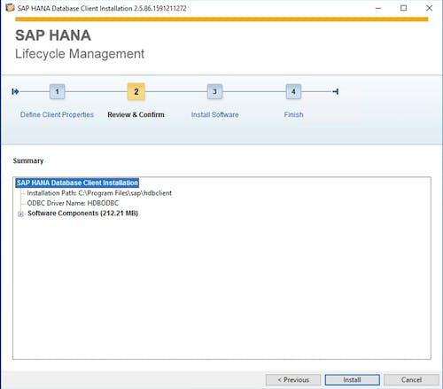 SAP HANA Client Install - 7