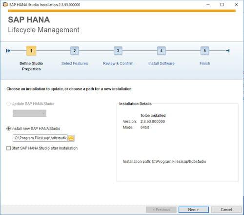 SAP HANA Studio Install - 1