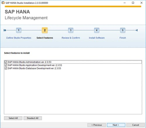 SAP HANA Studio Install - 2