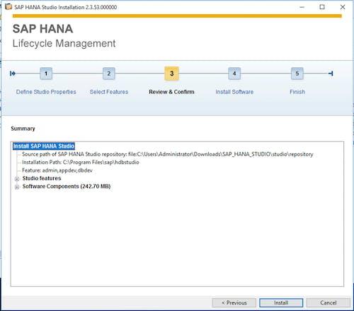 SAP HANA Studio Install - 3