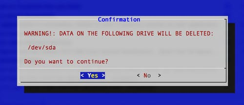 HDD Delete warning